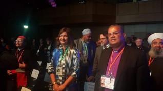"""وزيرة الهجرة تشهد إفتتاح فعاليات المؤتمر العالمي لمؤسسة """"الأديان من أجل السلام"""" في ألمانيا"""