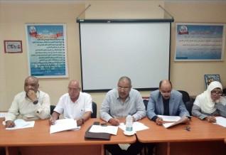 « النيلي »  يترأس لجنة المقابلات الشخصية للمتقدمين لشغل وظيفتي مدير ووكيل ابتدائي