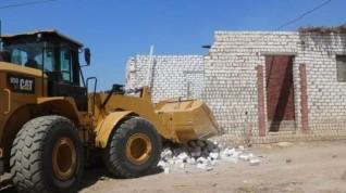 حملة لإزالة التعديات علي أراضي أملاك الدولة بقرية قلمشاه التابعة لمركز اطسا