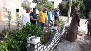 مراكز شباب شبراخيت تجمل مداخل القرى فى مبادرة شارك ونظف