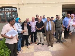 عميد زراعة جامعة كفر الشيخ يستقبل الوفود المشاركة فى مشروع ري الحاصلات البستانية