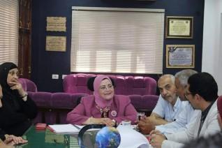 وكيل تعليم كفر الشيخ تتابع المدارس وتلتقي بمسئولي العلاقات العامة والإعلام