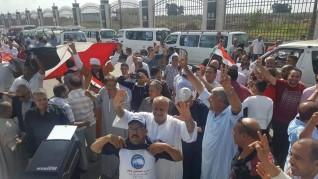 الآلاف من أهالى كفرالشيخ فى القاهرة للمشاركة فى دعم الرئيس السيسى