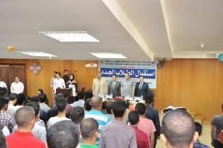 رئيس جامعة كفر الشيخ  يشهد حفل استقبال الطلاب الجدد