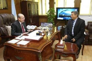 محافظ كفرالشيخ يستقبل وكيل وزارة الزراعة مقدماً له التهنئة بمناسبة تولى مهام منصبه الجديد