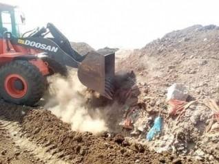 إزالة 5 حالات تعد على أرض زراعية  ببنى مزار بالمنيا