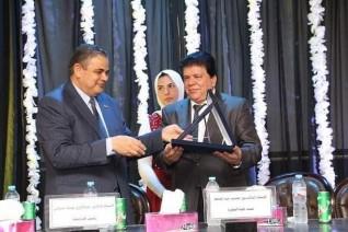 رئيس جامعة كفر الشيخ يشهد إستقبال طلاب كلية التجارة الجدد