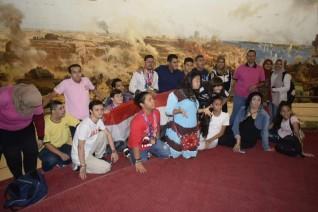 بانوراما أكتوبر جمعت بين أبطال نصر أكتوبر و أبطال مصر من الاولومبياد الخاص المصري