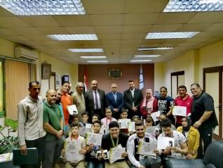 تكريم أبطال المشروع القومي للناشئين بالشباب والرياضة بمحافظة الغربية