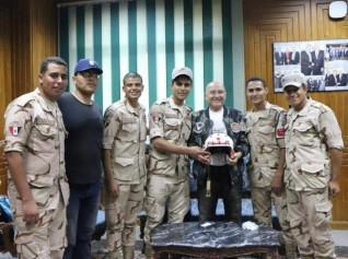 أداب المنصورة تستقبل أبطال حرب أكتوبر احتفالا بذكرى النصر