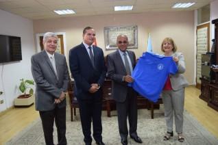 جامعة سوهاج تناقش واقع وطموحات التربية الرياضية في مصر بحضور وفد جامعة اوفيدوس