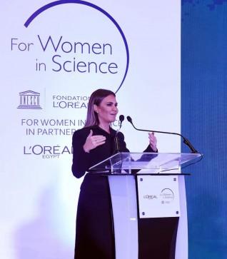 وزيرة الاستثمار والتعاون الدولى تكرم 3 باحثات مصريات فائزات بزمالة برنامج لوريال-يونيسكو
