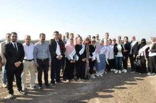 """طلاب الثروة السمكية بجامعة كفر الشيخ  يتعرفون على مزرعة """"الزاوية """""""