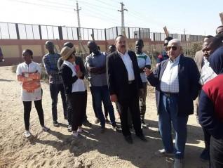 بالصور:وفد من دول أفريقيا يزور مزرعة  الأستاذ أيمن شكرى