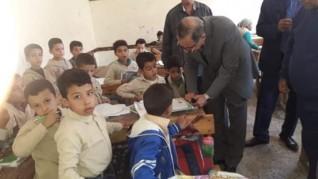 محافظ كفرالشيخ وزيارة مفاجأة لمدرسة الشهيد أحمد السيد للتعليم الأساسى بإسحاقة