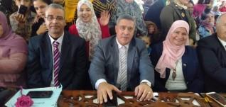 هاله عاشور والحسينى يحضران حفلة أعياد الطفولة بمدرسة كفر شكر الرسمية للغات