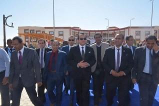 وزير التعليم العالي يتفقد منشآت جامعة أسوان بالمدينة  الجديدة