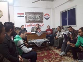 بالصور.. حزب الحرية المصري بمركز شبين القناطر يناقش خطه 2020