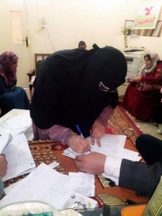 ادارة محو الامية بالعدوة تستعد للامتحانات بتسليم امتحان يناير
