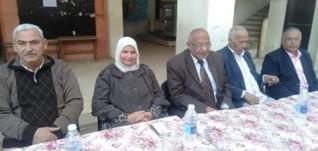 هالة عاشور تحضر تكريم أحمد عزب لوصوله سن المعاش