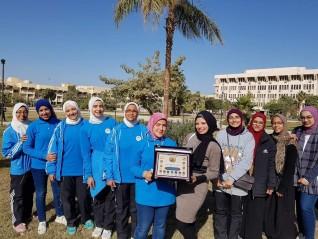 بالصور.. مغادرة وفود طالبات أسبوع فتيات الجامعات المصرية من جامعة الفيوم