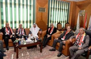 بدء اجتماعات عمداء كليات الآداب العرب بآداب المنصورة