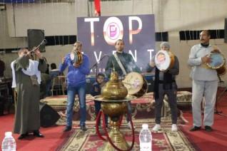 سهرة شعبية بآداب المنصورة في حضور العمداء العرب   