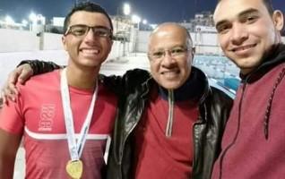 باسم مجدى يحصد ذهبية 400م حر ببطولة الصعيد الشتوية للسباحة بنى سويف