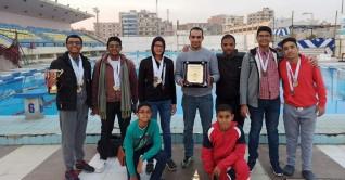 المركز الثانى لنادى شمس اسوان فى بطولة الصعيد للسباحة ببنى سويف