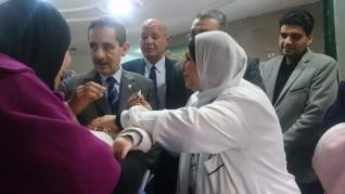 محافظ الغربية ونائبه يتفقدان الحملة القومية للتطعيم ضد شلل الأطفال