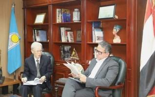 """وزير السياحة يستقبل سفير دولة اليابان بالقاهرة ومدير الوكالة اليابانية للتعاون الدولي """"الجايكا"""" بالشرق الأوسط"""