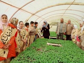 زيارة بيئية ميدانية لتلاميذ مدرسة بنات ابشواي لبيوت المحمية