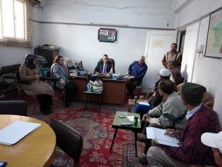 اجتماع الارشاد الزراعي مع إتحاد المجالس الزراعية بالفيوم