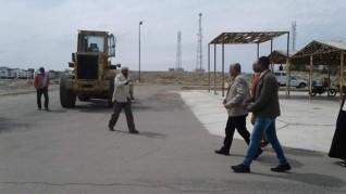 رئيس مدينة مرسى علم يتابع أعمال النظافة ورفع المخلفات