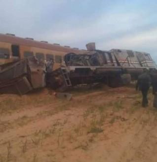 الحصيلة النهائية عن  المصابين في حادث قطار مطروح