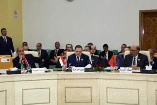وزير الداخلية المصرى فى ندوة لمناقشة طرق مكافحة الارهاب فى تونس ومصر والوطن العربى .