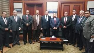 جامعة بني سويف تكرم وزير المالية