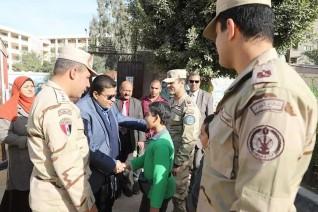 تكريم نجلى الشهيد أحمد محمد عبده إسماعيل  فى احتفال القوات المسلحة بيوم الشهيد