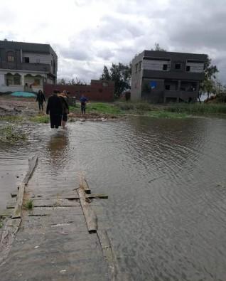 أهالى منطقة الـ ٨٠٠٠ فدان بالمطرية دقهلية تستغيث بعد غرق المحصول