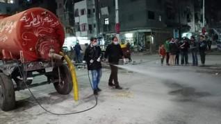 حملة لتطهير وتعقيم شوارع المطرية بالدقهلية