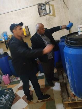 ضبط وتحريز كميات كبيرة من المطهرات والمنظفات مجهولة المصدر بالاسكندرية