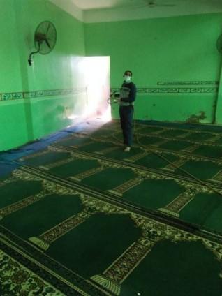تعقيم المساجد والكنائس والمبانى الحكومية بالمنيا