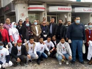حماة الوطن بالدقهلية يقود حملة لتطهير المنشآت الحكومية