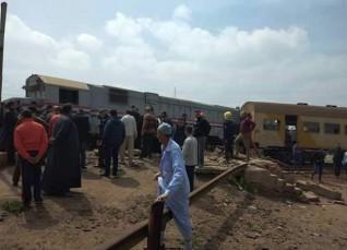 خروج عجلتين بقطار طنطا عن القضبان دون إصابات