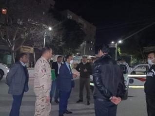 نائب محافظ المنيا يتابع التزام المواطنين بقرارات حظر حركه التنقل