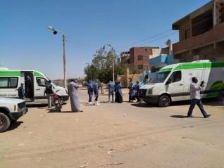 لمواجة فيروس كورونا: الكشف على اهالى نجع العمراب و الشيخ عيسى باسوان