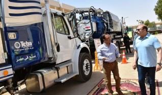 أشرف عطية تدشين سيارات ومعدات جديدة بـ 20 مليون جنيه قطاع مياه الشرب والصرف الصحى