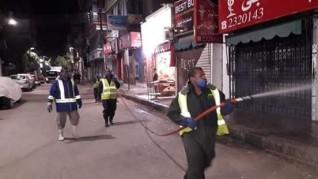 """تعقيم وتطهير الشوارع والمبانى بمراكز المنيا لمواجهة """"كورونا"""""""