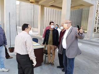 وكيل وزارة التموين بالاسكندرية يتفقد مجمع صوامع برج العرب