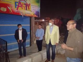 محافظ القليوبية يقوم بجولة مسائية مفاجئة بمدينة بنها
